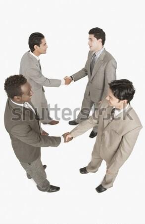 ビジネスマン 立って サークル ビジネス 笑みを浮かべて 幸福 ストックフォト © imagedb