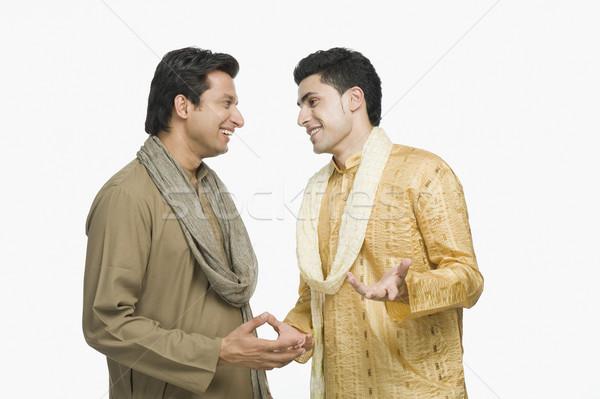 二人の男性 話し 笑顔 立って 友情 写真 ストックフォト © imagedb