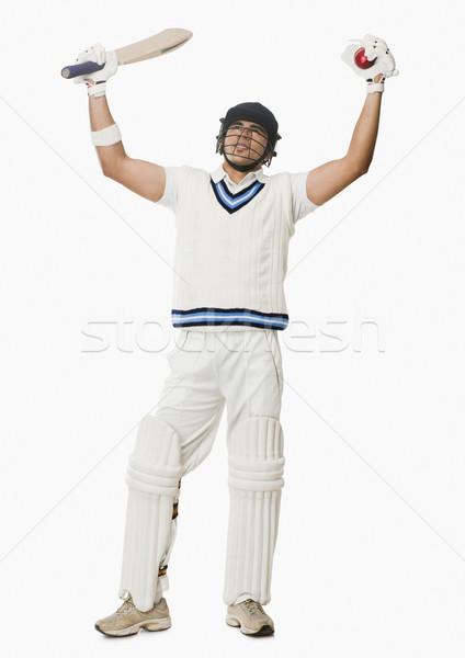 Kriket top bat adam Stok fotoğraf © imagedb