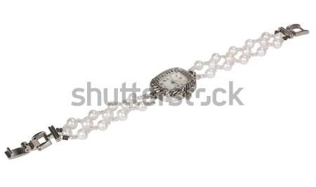 Közelkép karóra óra fehér ékszer luxus Stock fotó © imagedb
