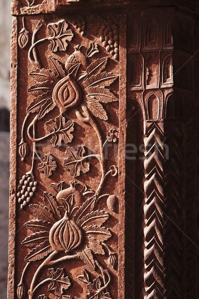Dettaglio architettonico colonna palazzo arte architettura pattern Foto d'archivio © imagedb