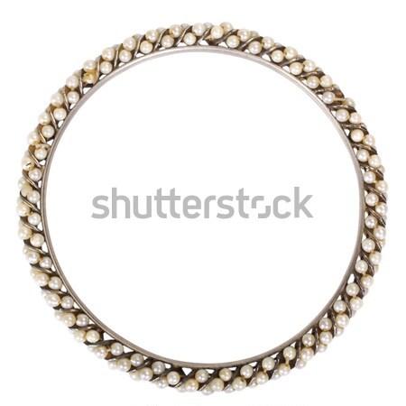 браслет белый ювелирные Pearl изолированный Сток-фото © imagedb