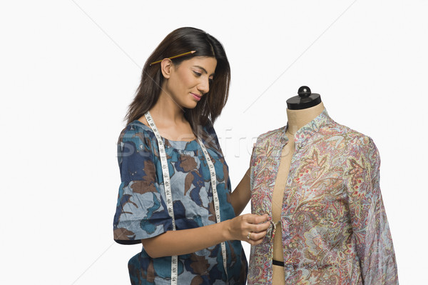 женщины моде дизайнера платье манекен рабочих Сток-фото © imagedb