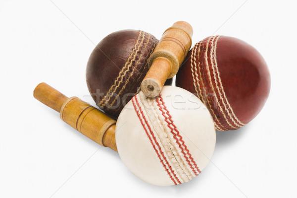 Primer plano cricket rojo cuero fotografía Foto stock © imagedb