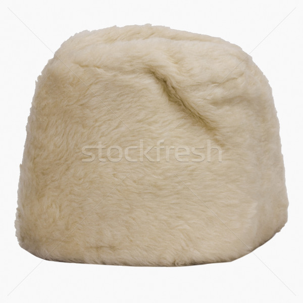 мех Hat моде фотографии белом фоне Сток-фото © imagedb