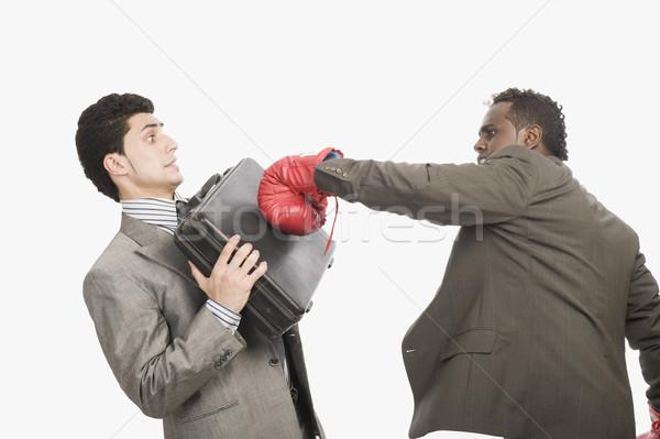 Imprenditore business sport rabbia violenza valigetta Foto d'archivio © imagedb