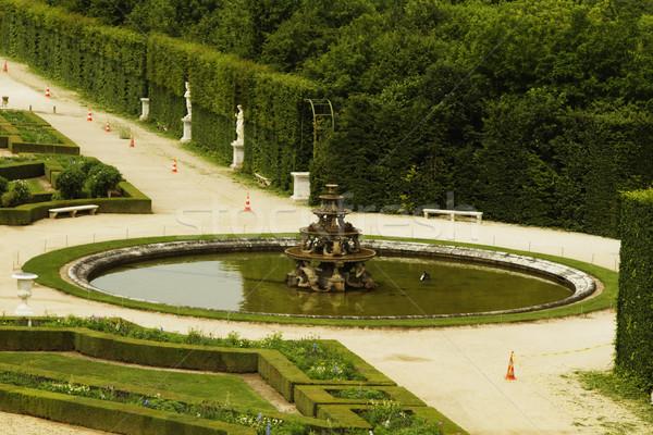фонтан формальный саду Версаль Париж Франция Сток-фото © imagedb