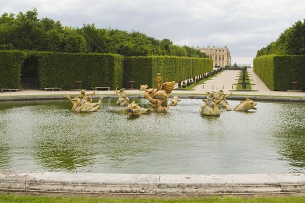 Medence Versailles Párizs Franciaország égbolt kert Stock fotó © imagedb