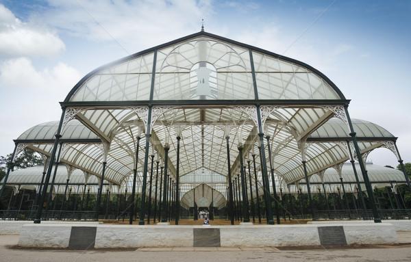 Vetro casa giardino botanico cielo giardino architettura Foto d'archivio © imagedb