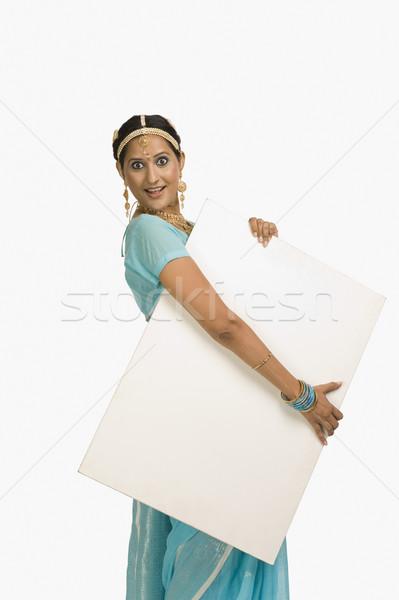 женщину плакат улыбаясь моде портрет Сток-фото © imagedb
