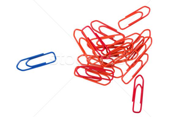Papier bleu groupe plastique permanent Photo stock © imagedb
