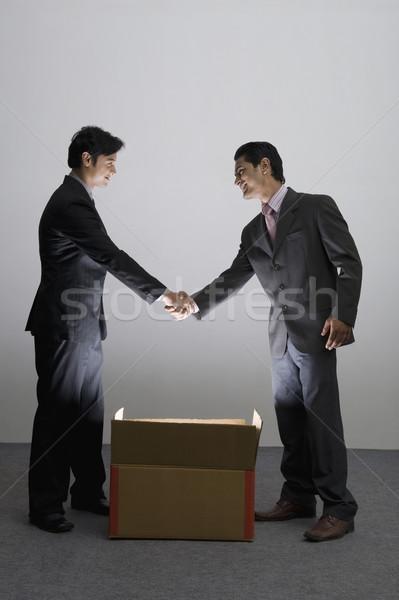 2 ビジネスマン 握手 ビジネス ストックフォト © imagedb