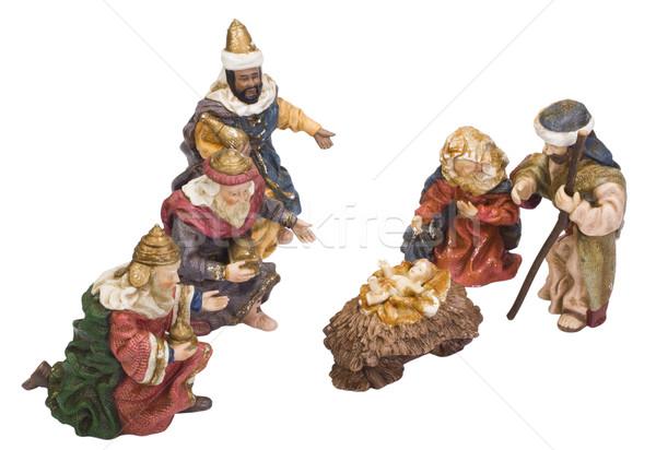 Ház Jézus csoport Biblia ajándék szobor Stock fotó © imagedb