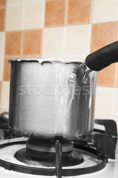 Foto stock: Leite · casa · cozinha · energia · cozinhar · recipiente