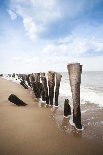 пляж Индия небе морем песок Сток-фото © imagedb