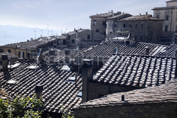 High angle view of houses in a old town Stock photo © imagedb
