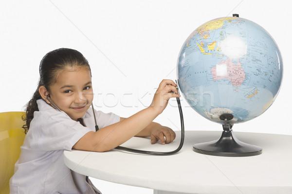 девушки мира стетоскоп врач Председатель Сток-фото © imagedb
