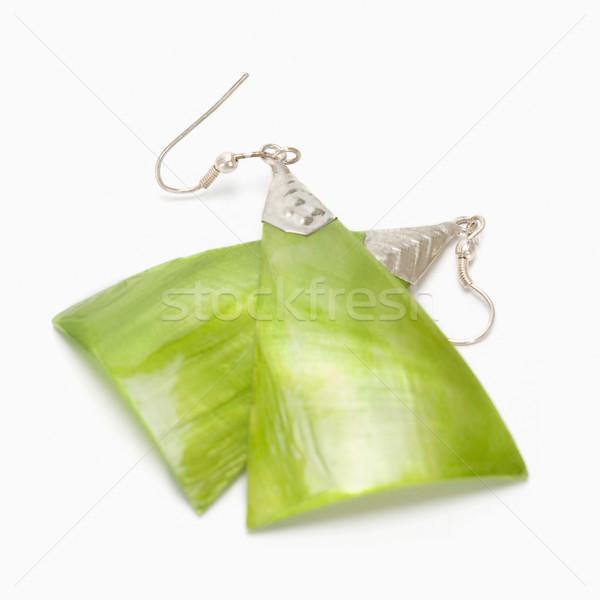 Par brincos moda projeto jóias Foto stock © imagedb