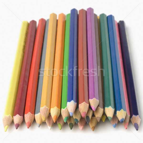 Kolorowy ołówki edukacji grupy obiektów Zdjęcia stock © imagedb