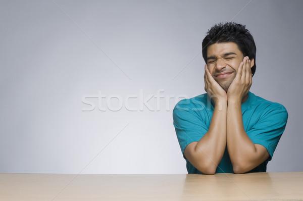 человека лице портрет улыбаясь Сток-фото © imagedb