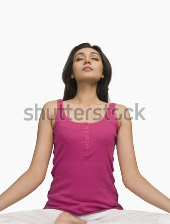 Vrouw mediteren jonge meditatie fotografie een Stockfoto © imagedb