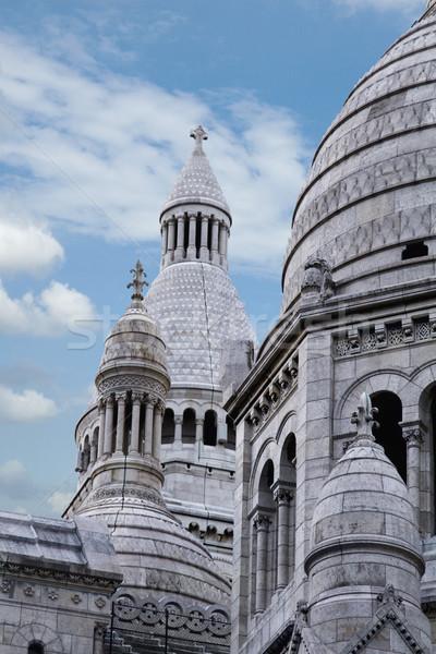 Alulról fotózva kilátás katedrális Párizs Franciaország égbolt Stock fotó © imagedb