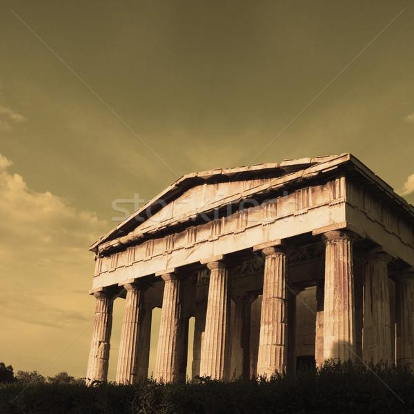Ruinas antigua templo Partenón Acrópolis Atenas Foto stock © imagedb