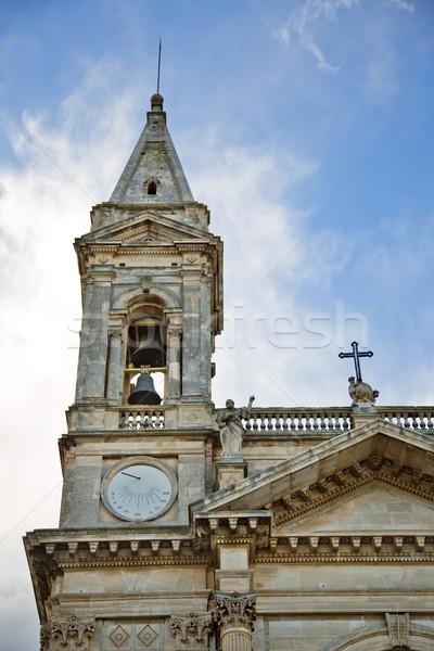 Alulról fotózva kilátás harang torony katedrális templom Stock fotó © imagedb