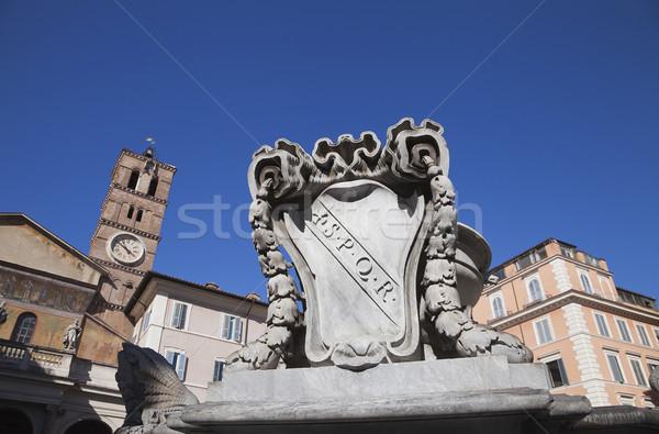 építészet Európa hölgy torony vallás szökőkút Stock fotó © imagedb
