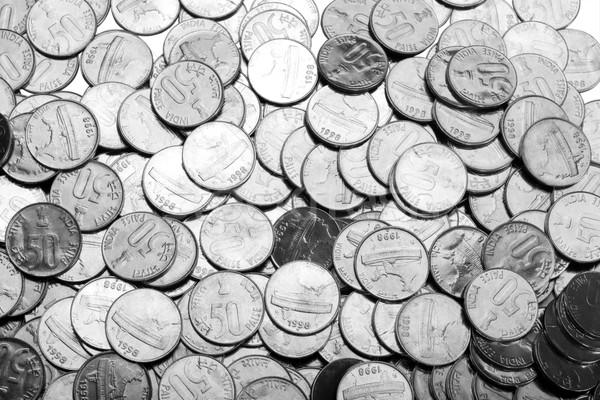Hoop munten metaal groep economie munt Stockfoto © imagedb