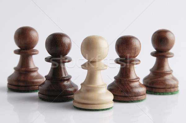 Schaken leuk entertainment Indië witte achtergrond ideeën Stockfoto © imagedb