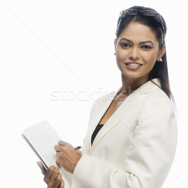 Ritratto imprenditrice documento business donna Foto d'archivio © imagedb