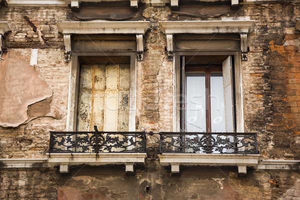 Alulról fotózva kilátás erkély épület Velence ablak Stock fotó © imagedb