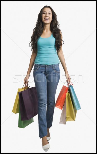 Femme Shopping jeans jeunes Photo stock © imagedb