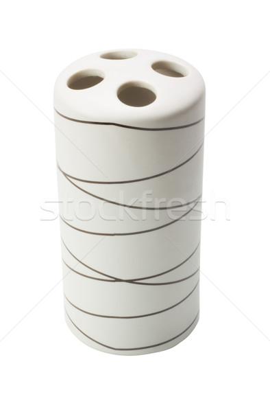 Közelkép fogkefe kő luxus lyuk dekoráció Stock fotó © imagedb