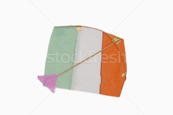 üç renkli uçurtma kâğıt turuncu özgürlük Stok fotoğraf © imagedb