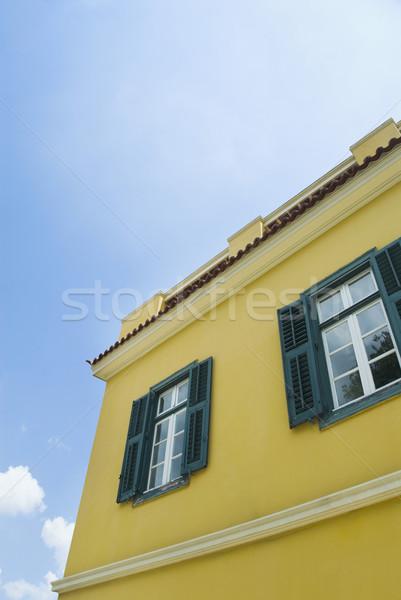 Vista casa Atenas Grecia edificio Foto stock © imagedb