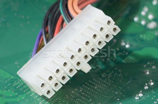 Számítógép kábel nyáklap fém kábel stúdió drót Stock fotó © imagedb