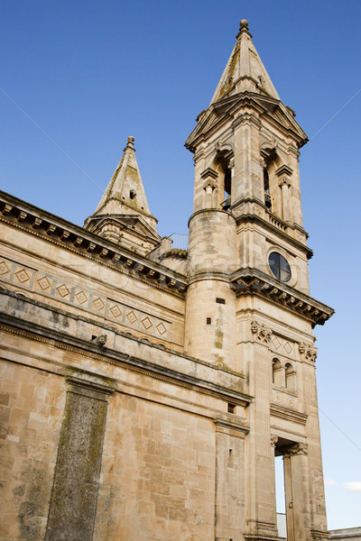 Low angle view of bell tower of a cathedral Stock photo © imagedb