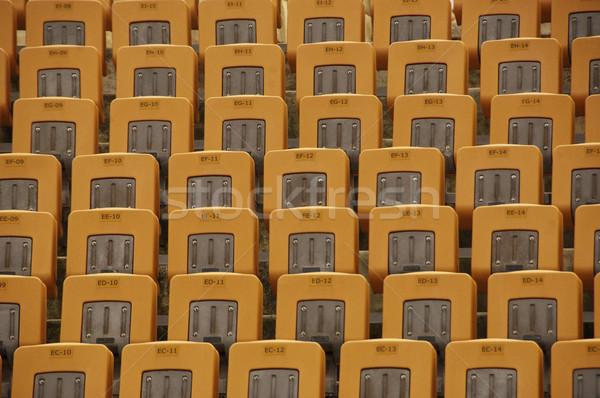 Cadeiras parque cadeira amarelo fotografia dia Foto stock © imagedb