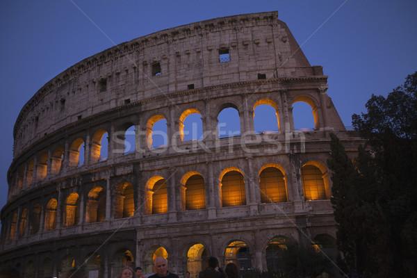 Fény éjszaka történelem ív Roma római Stock fotó © imagedb
