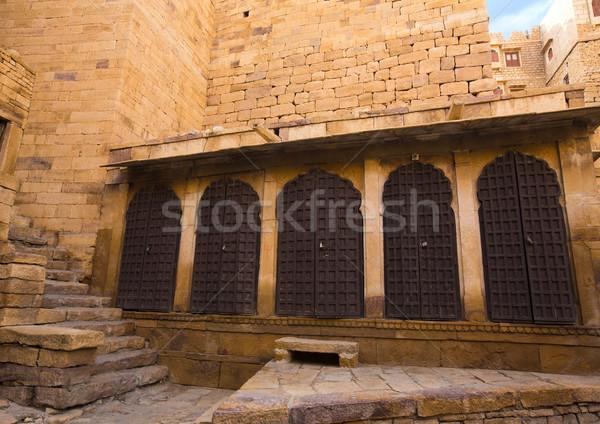 Ruines fort Indië deur architectuur fotografie Stockfoto © imagedb