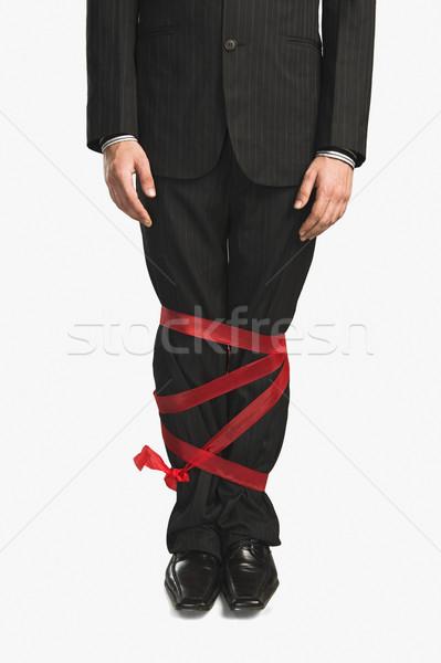 Pernas para cima fita negócio fotografia fundo branco Foto stock © imagedb