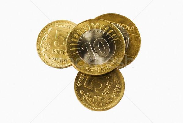 Primer plano indio monedas negocios financiar economía Foto stock © imagedb