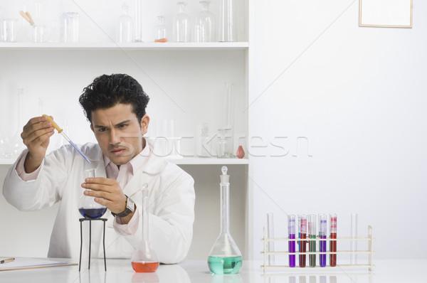 Cientista lab química químico horizontal Foto stock © imagedb
