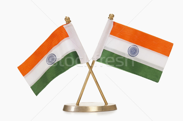 Miniatura indiano bandeiras laranja liberdade Foto stock © imagedb