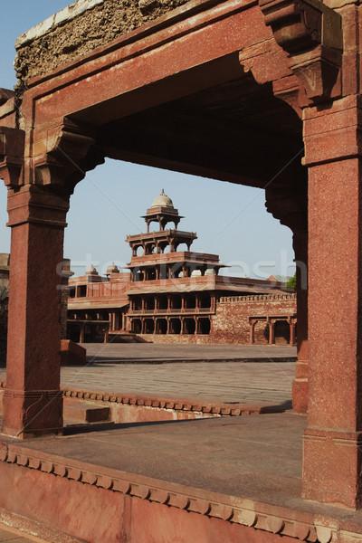 Dettaglio architettonico palazzo fotografia antica colonna giorno Foto d'archivio © imagedb