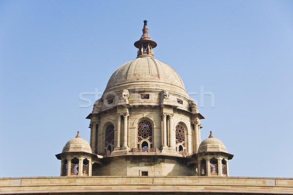 élevé vue gouvernement bâtiment new delhi Photo stock © imagedb