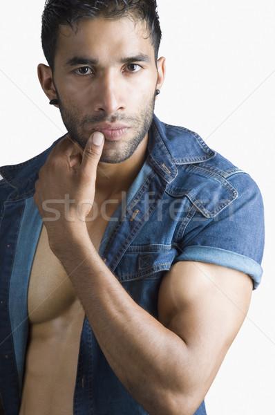Portré macsó férfi egészség izom erő Stock fotó © imagedb