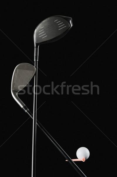 Közelkép golfütők golflabda fém fehér játék Stock fotó © imagedb